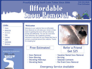 Affordable Snow Removal HTML Website
