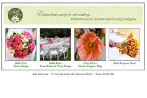 Bella Fiori Events HTML Website