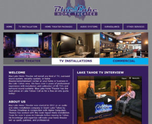 Blue Lake Home Theater HTML Website