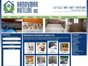 Handyman Hotline Tahoe WordPress Website