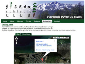 Sierra Athletic Club WordPress Website