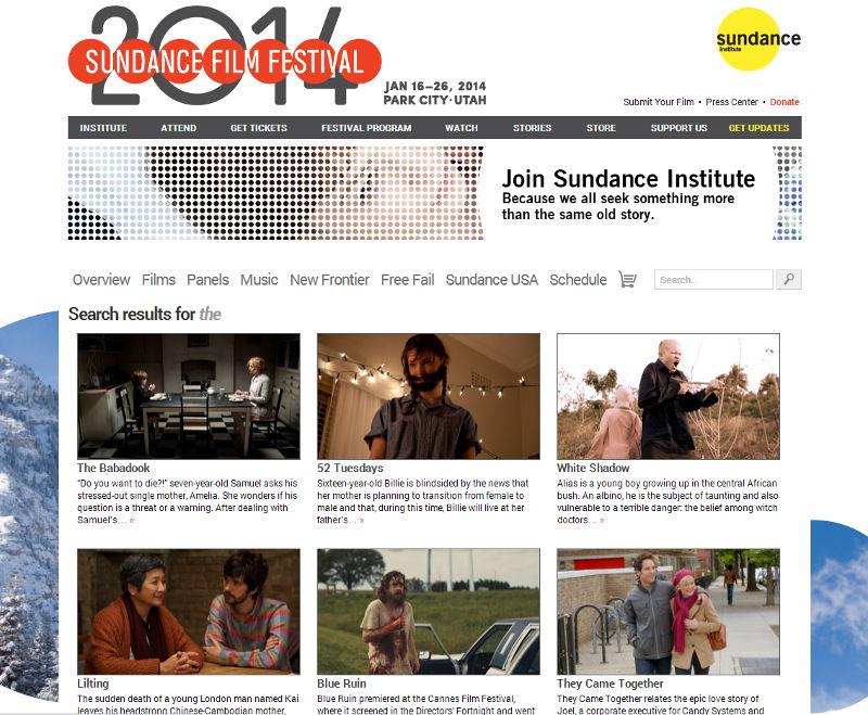 Sundance Filmguide Search