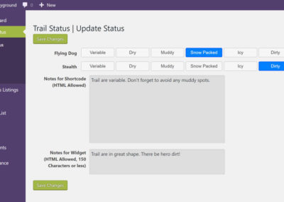 Trail Status Updates Page