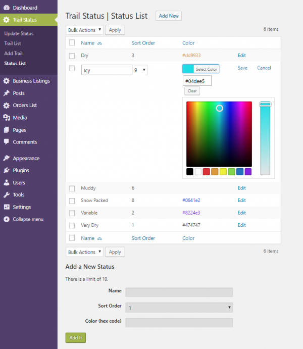 Inline Editing Plugin