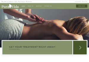 Top of PuraVida on Main Website's Homepage